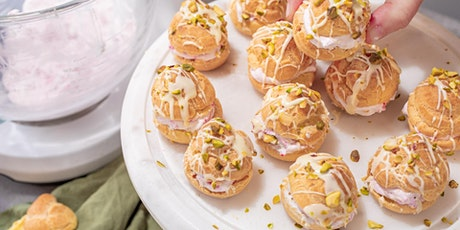 FREE Cook-Along: Mother's Day Cream Puffs with Raspberry Whipped Cream tickets
