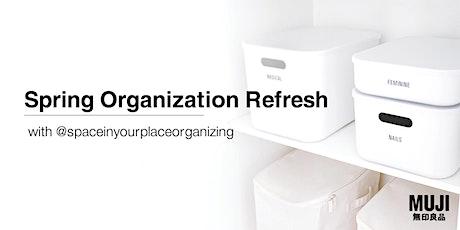 Spring Organization Refresh tickets