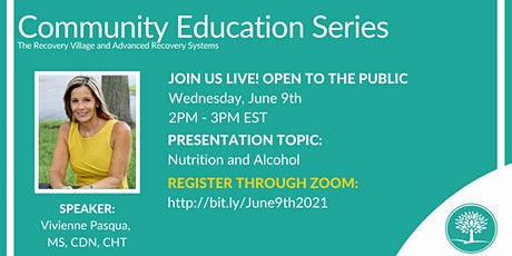 Community Education Series: Nutrition and Alcohol tickets