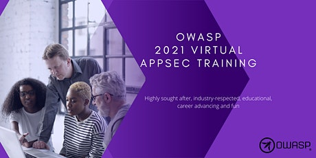 OWASP 2021 Virtual AppSec Training July tickets