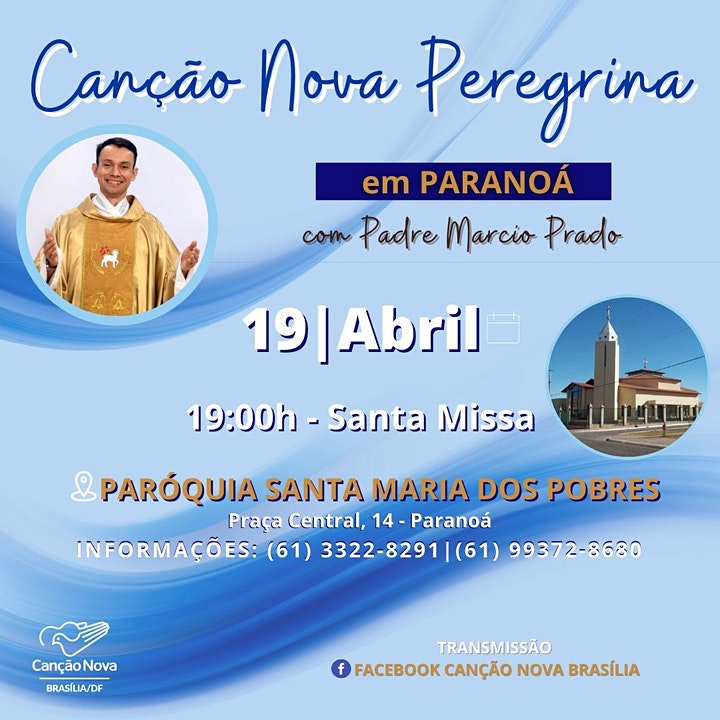 Imagem do evento Canção Nova Peregrina em Paranoá
