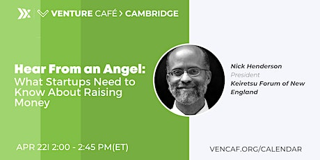 Hear From an Angel: What Startups Need to Know About Raising Money tickets