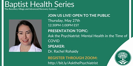 Ask the Psychiatrist: Mental Health in the Time of COVID tickets