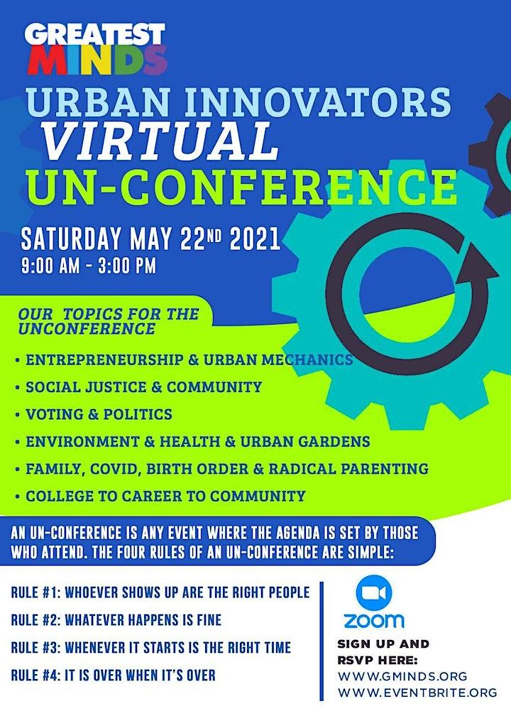 Greatest Minds: Urban Innovators Virtual UN-Conference image