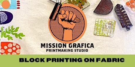 Block Printing on Fabric Workshop tickets