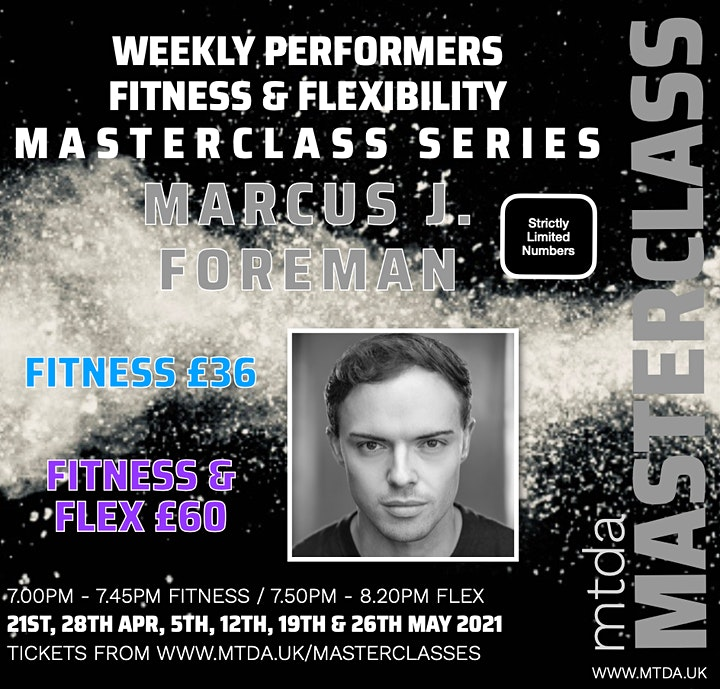 mtda Weekly Performers Fitness Masterclass Series with Marcus J.Foreman image