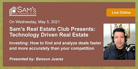 Technology Driven Real Estate Investing: How to find and analyze deals tickets
