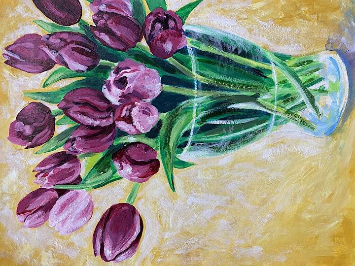 Vivacious Tulips - Art Class image