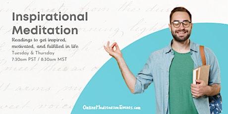 Inspirational Meditation - Online Meditation Events tickets