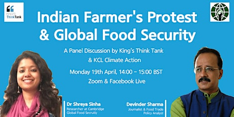 Indian Farmer's Protests and Global Food Security tickets