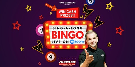 Sing-a-long Bingo with Carl Matthews Live on Zoom tickets