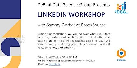 DePaul Data Science LinkedIn Workshop tickets
