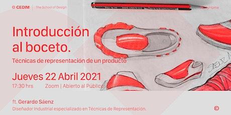 → Introducción al boceto: Técnicas de representación de un producto. boletos