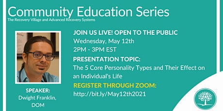 Community Education Series: The 5 Core Personality Types tickets