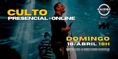 CULTO DOMINGO | NOITE | 18/04 | 18h ingressos