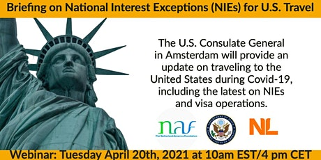 Webinar: Briefing on National Interest Exceptions (NIEs) for US Travel tickets