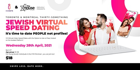 Isodate & The House present: Thirty Somethings  Jewish Virtual Speed Dating tickets