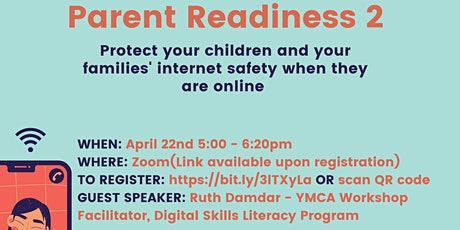 Parent Readiness - Internet Safety for Children and Families tickets