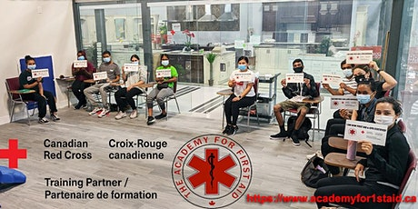 Red Cross First aid CPR certification classes in Toronto / Brampton tickets