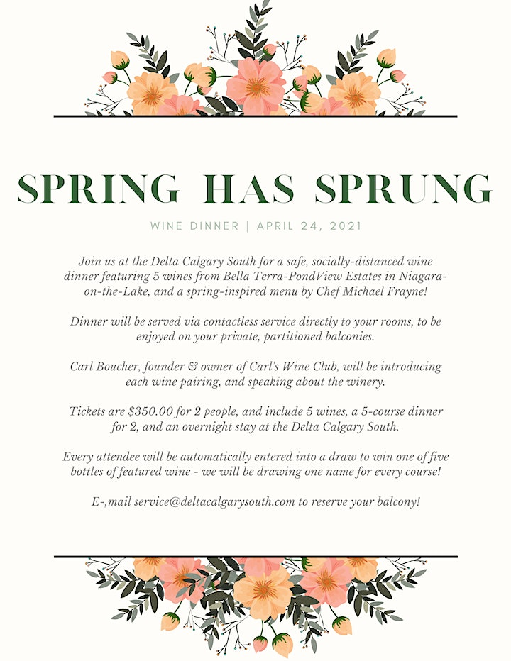 Spring Has Sprung | Wine Dinner at the Delta Calgary South image