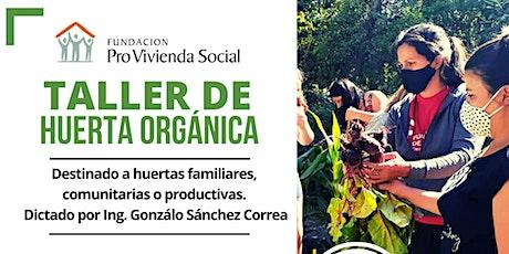 Taller de Huertas Orgánicas familiares, comunitarias o productivas entradas