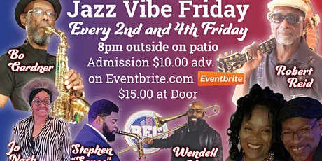 JAZZ  VIBE FRIDAYS Returns 4/23 outside on the patio with DNA & Nisey tickets