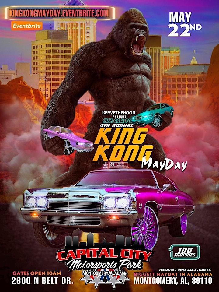 KING KONG MAYDAY! MAY22ND! AT MONTGOMERY MOTORSPORTS PARK! image