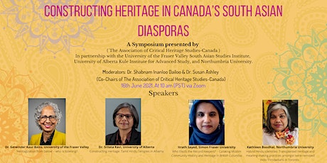 Constructing Heritage in Canada's South Asian Diasporas tickets