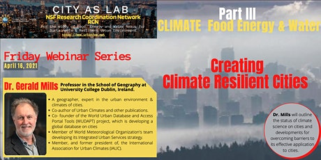 Creating Climate Resilient Cities tickets
