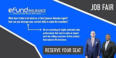 Final Expense Telesales Virtual Job Fair - Work From Home tickets