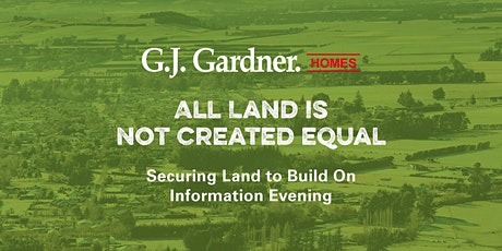 All Land Is Not Created Equal - Information Evening tickets
