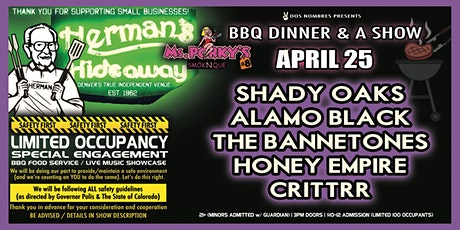 SHADY OAKS | ALAMO BLACK | THE BENNETONES | THE HONEY EMPIRE | CRITTRR tickets