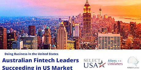 Doing Business in USA - Australian Fintech Leaders succeeding in US Market tickets