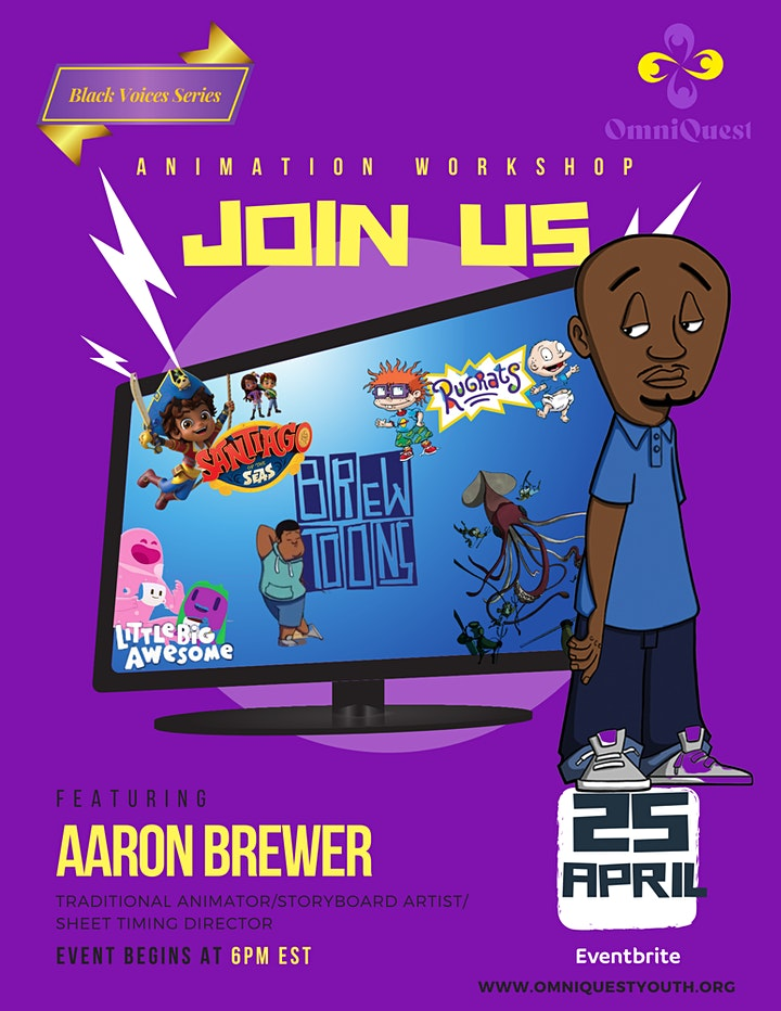 """OmniQuest Youth Black Voices Series  Presents """"Aaron Brewer"""" image"""