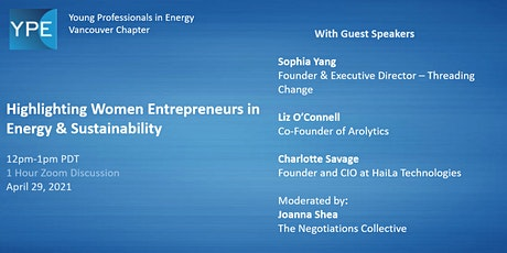 Highlighting Women Entrepreneurs in Energy & Sustainability tickets