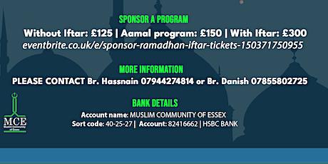 Sponsor Ramadhan Program tickets