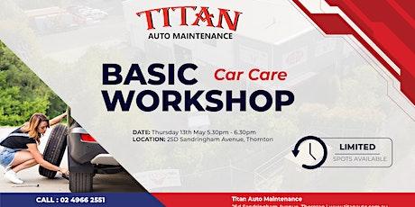 Basic 'Car Care' Workshop tickets
