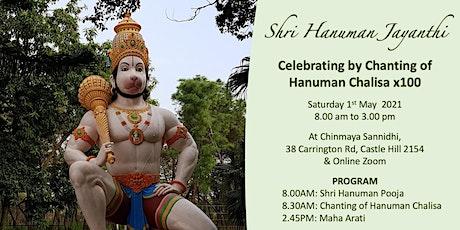 SHRI HANUMAN JAYANTHI CELEBRATIONS tickets