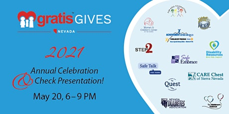 Be a part of the 2021 GratisGives Celebration and Check Presentation! tickets