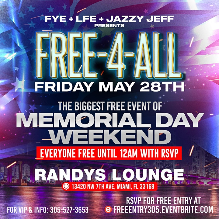 FREE-4-ALL: THE BIGGEST FREE EVENT OF MEMORIAL WEEKEND image