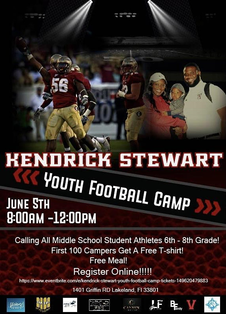 Kendrick Stewart Youth Football Camp image