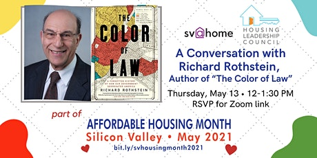 """A Conversation with Richard Rothstein, Author of """"The Color of Law"""" Tickets"""