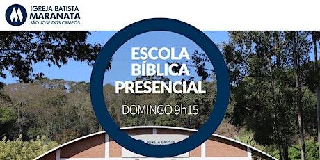 Escola Bíblica Dominical (EBD) - Presencial - MANHÃ | 18.04.2021 ingressos
