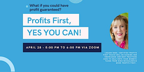 Profits First - IFDA Philly Zoom Event - April 28th 5:00-6:00pm tickets