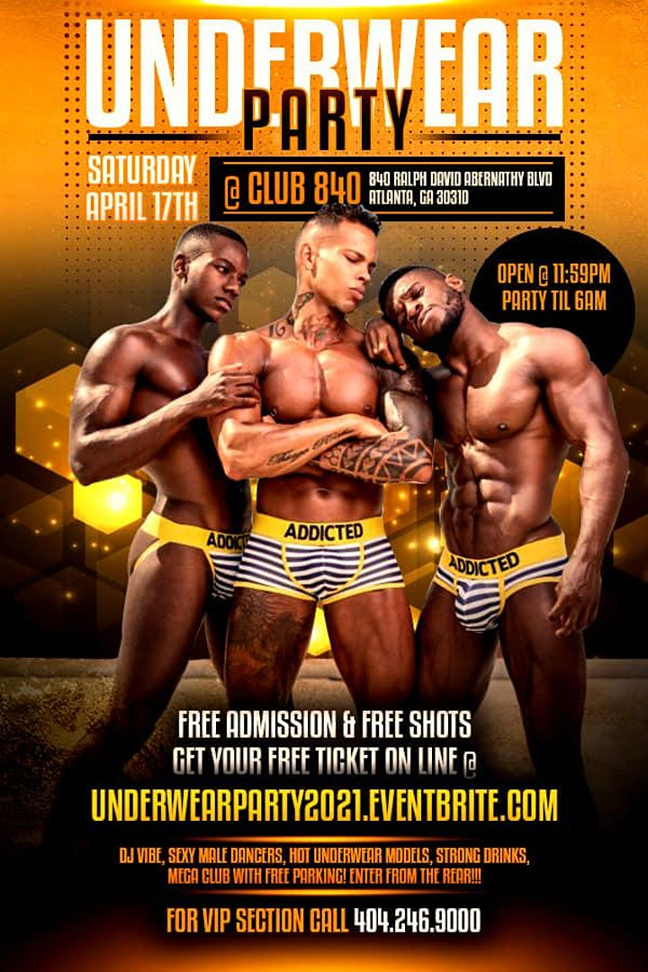 "WASSUP N ATL 10th ANNUAL ""BAD BOYS"" UNDERWEAR PARTY 2021 • FOR MEN BY MEN image"