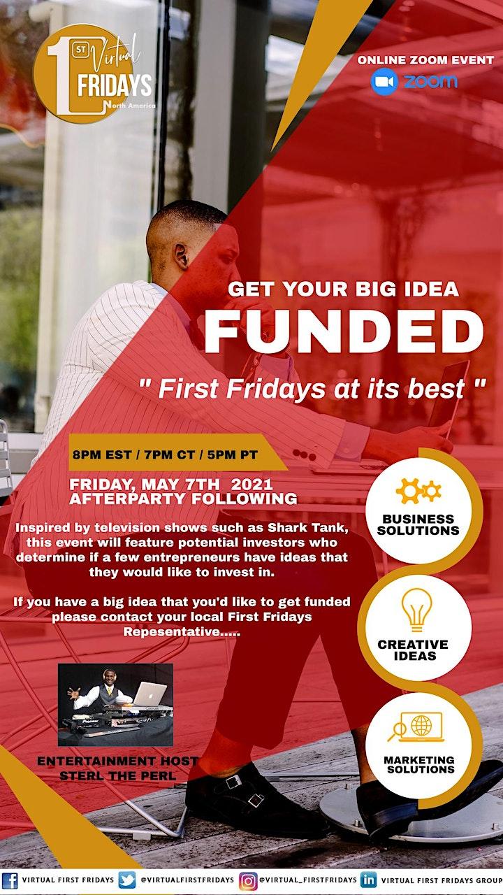 Virtual 1st Fridays - Get Your BIG IDEA Funded Forum & Showcase image