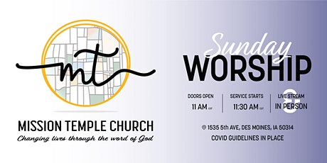 Mission Temple Church Sunday Service tickets