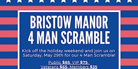 Bristow Manor Golf Club - Memorial Day 4-player Scramble tickets