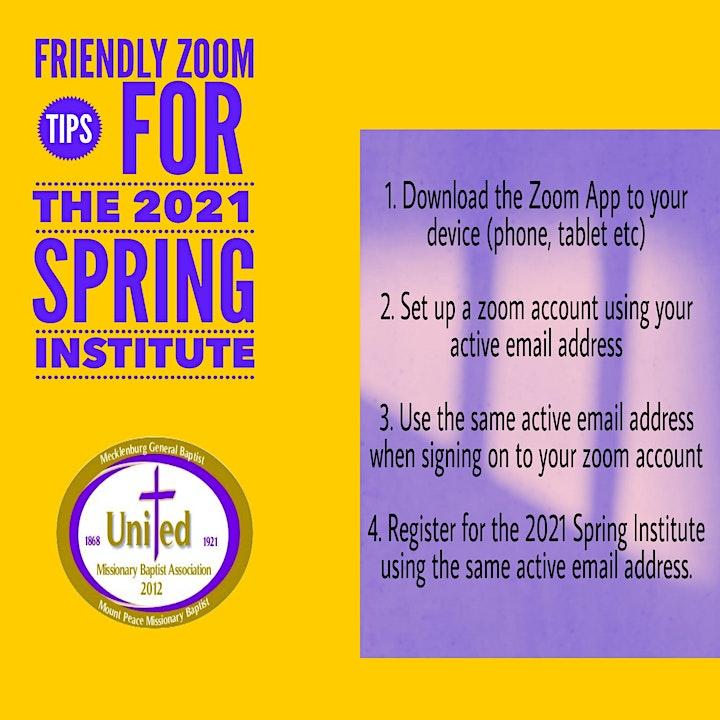 2021 UMBA Congress of Christian Education Spring Institute image
