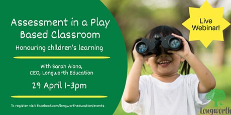 Assessment in a Play Based Classroom tickets